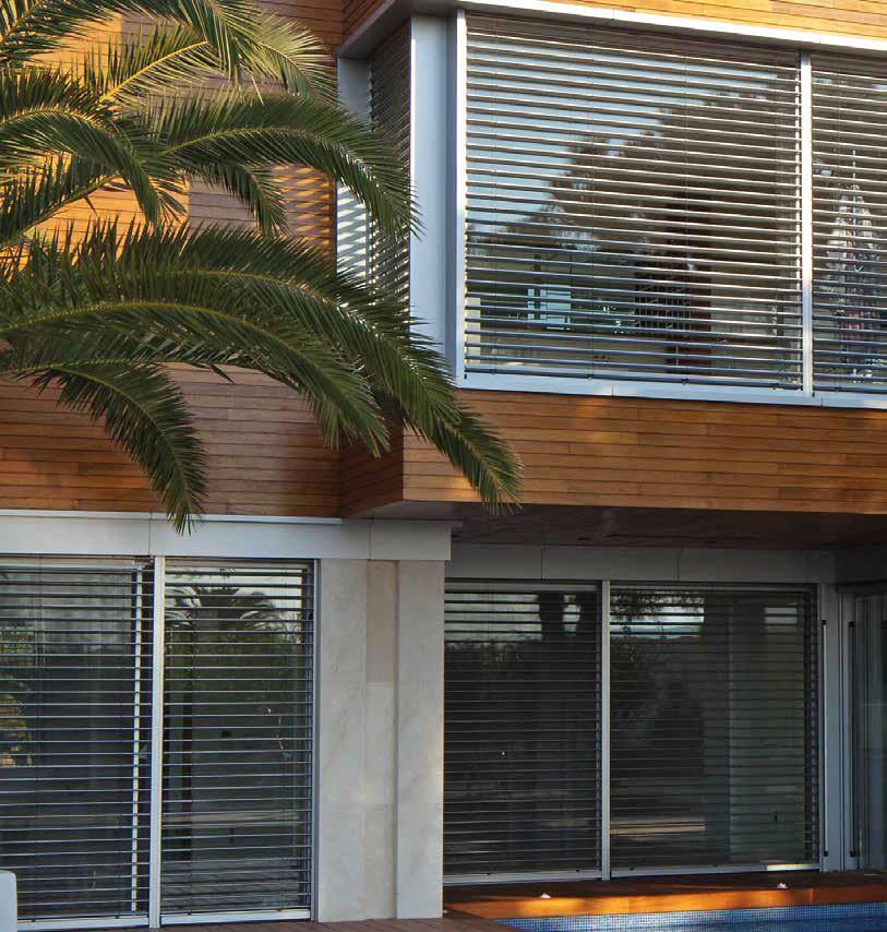Veneziane su casa con palma in Ticino